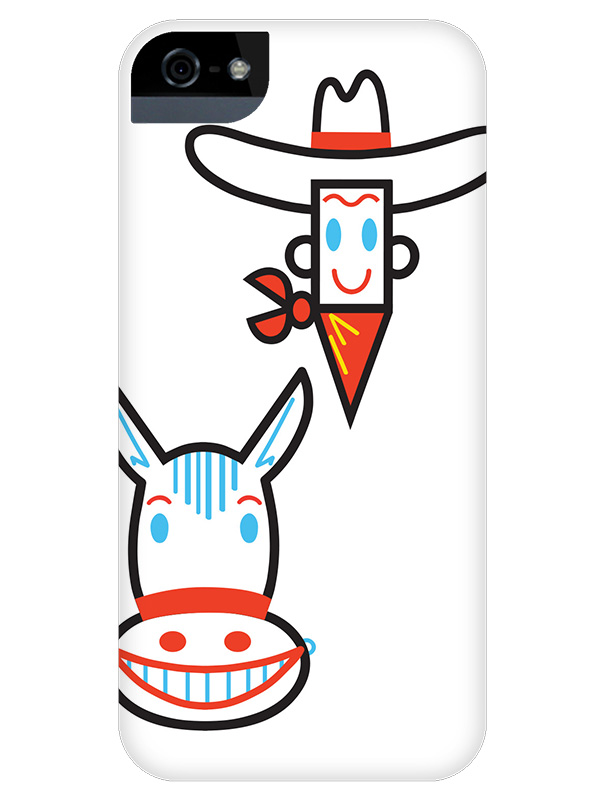 Black Cowboy iPhone Case