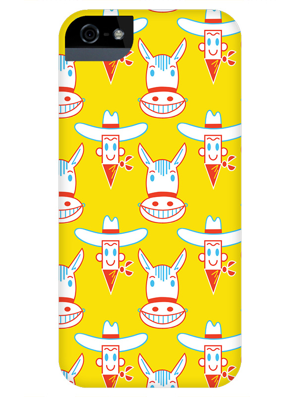 Yellow Cowboy iPhone Case